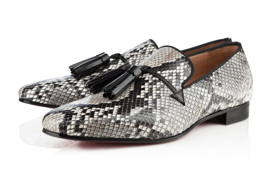 Image of Christian Louboutin 2012 Holiday Snakeskin Daddy Flat