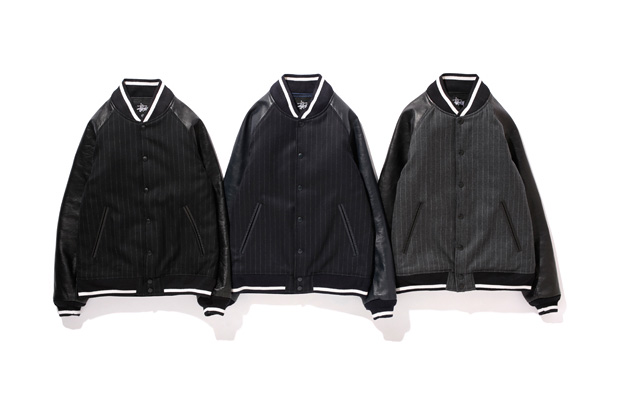Image of fragment design x Stussy Varsity Jacket