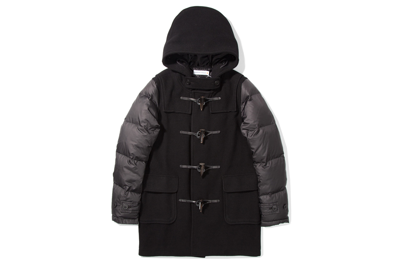 Image of Head Porter Plus 2012 Fall/Winter Black Down Duffle Coat
