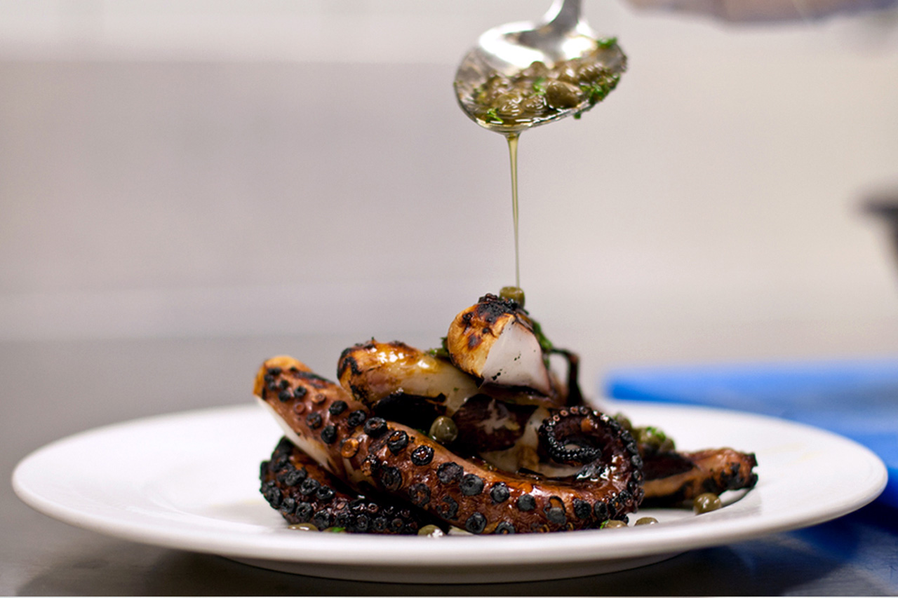 hypebeast eats boukies marinated grilled octopus by boukies nyc