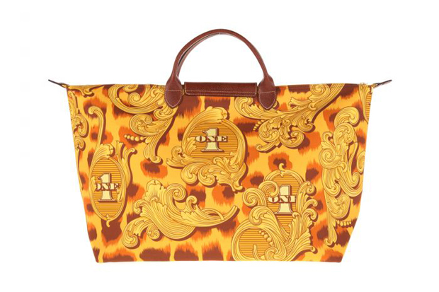 Image of Jeremy Scott x Longchamp Pliage &quot;Leopard Flourish&quot; Bag