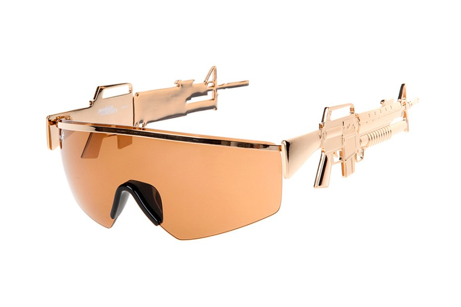 Image of Jeremy Scott x Linda Farrow Golden Gun Sunglasses
