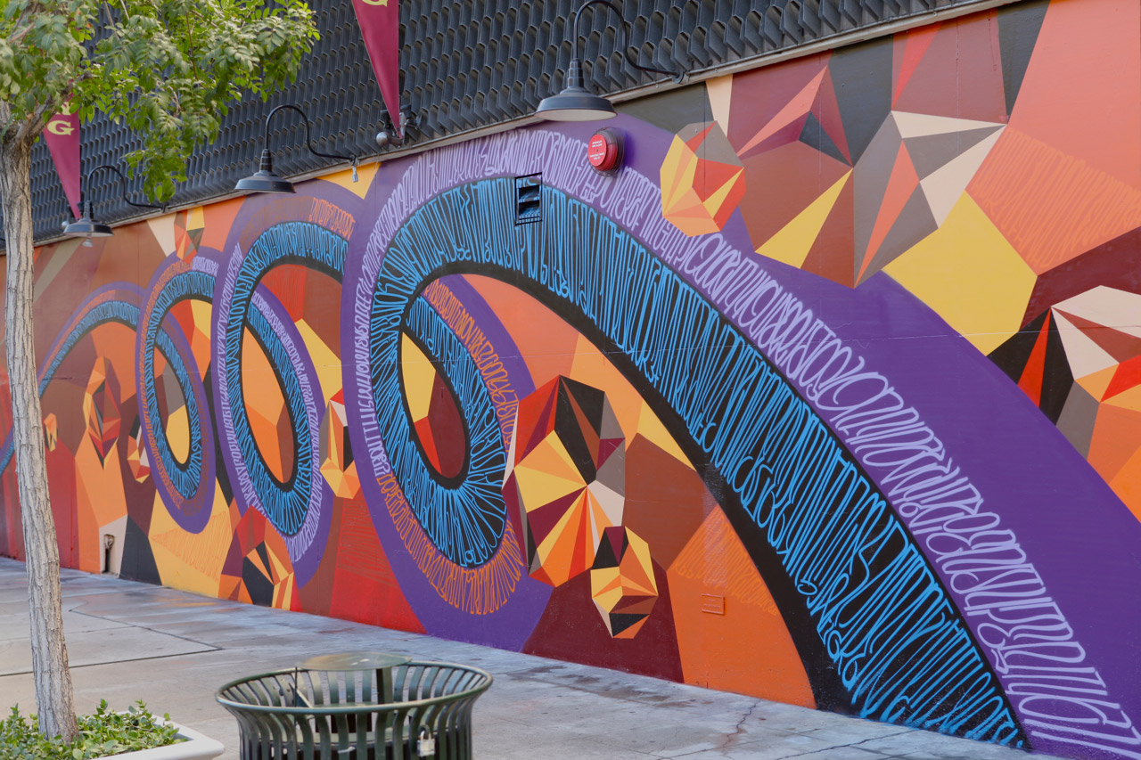 Image of JURNE and MWM's Mural in Downtown Los Angeles