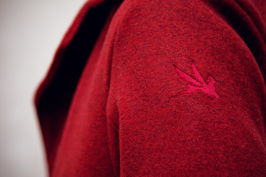 Image of Karmaloop Plus x Spiewak Red Heather Hancock Aviator Jacket