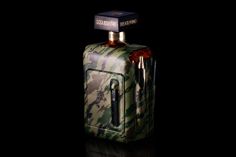 "Image of maharishi x bagjack ""Bonsai Forest"" Bottle Sleeve for DISARONNO"