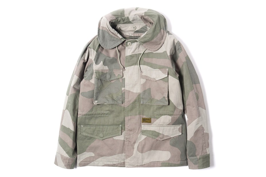 Image of Maiden Noir Military Field Jacket Beige Camo