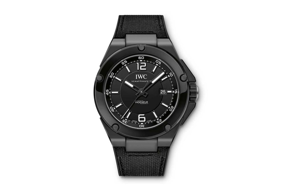 "Image of Mercedes AMG x IWC Ingenieur Automatic ""Black Series"" Ceramic Watch"