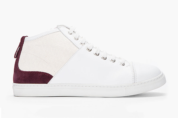 Image of Neil Barrett Purple-Accent Nappa Leather Sneakers