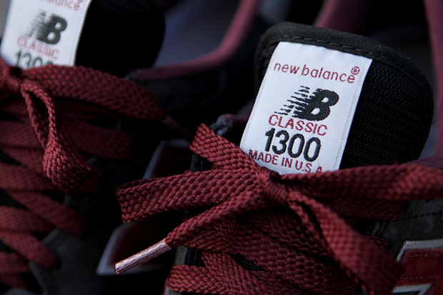 Image of New Balance 1300 Burgundy/Grey