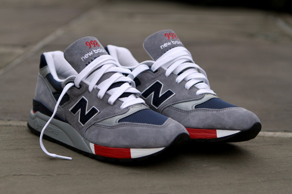 Image of New Balance 998 Grey/Navy/Red