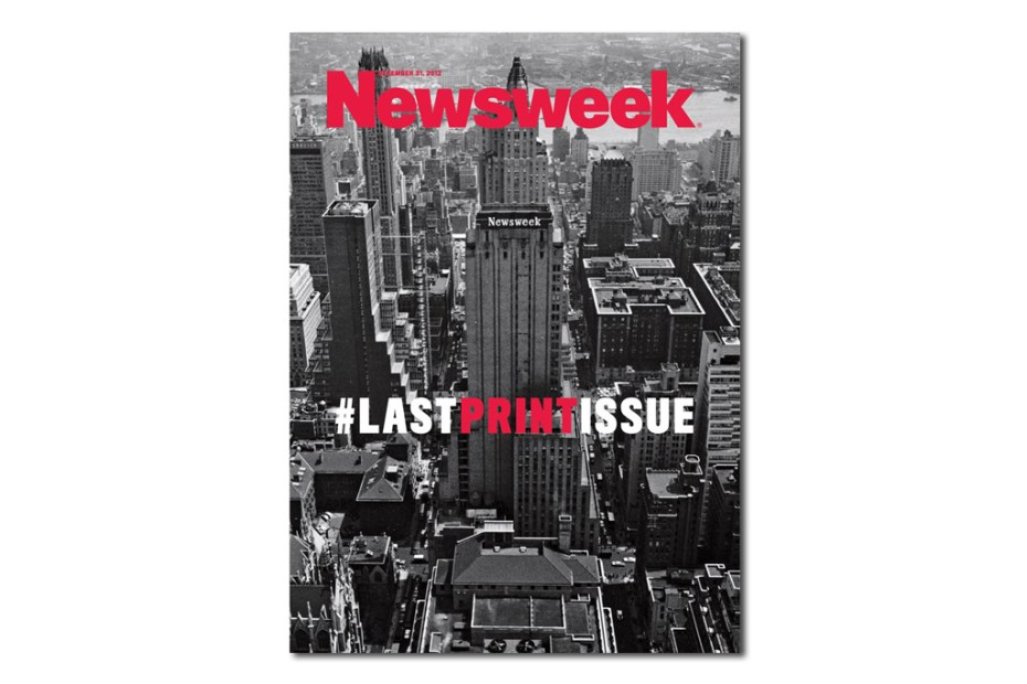 Image of #LASTPRINTISSUE from Newsweek