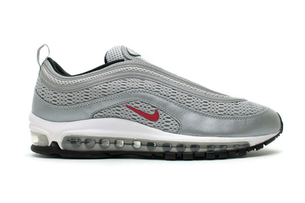 Image of Nike Air Max 97 Premium EM &quot;Silver/Varsity Red&quot;