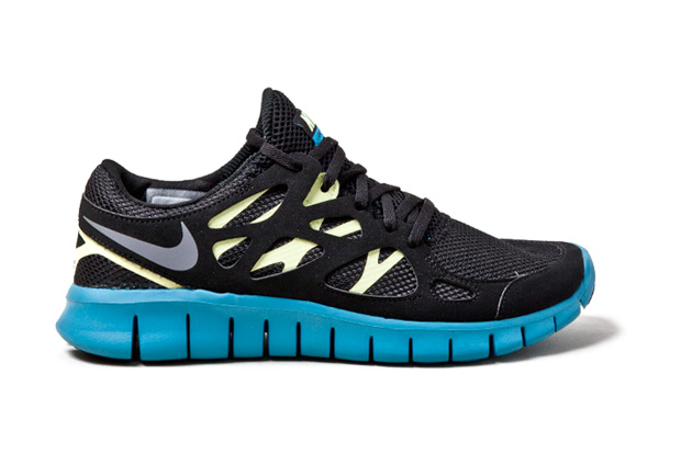 Image of Nike Free Run+ 2 Black/Yellow-Blue