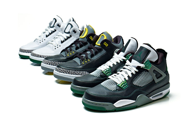 Image of Oregon Ducks x Air Jordan III & IV