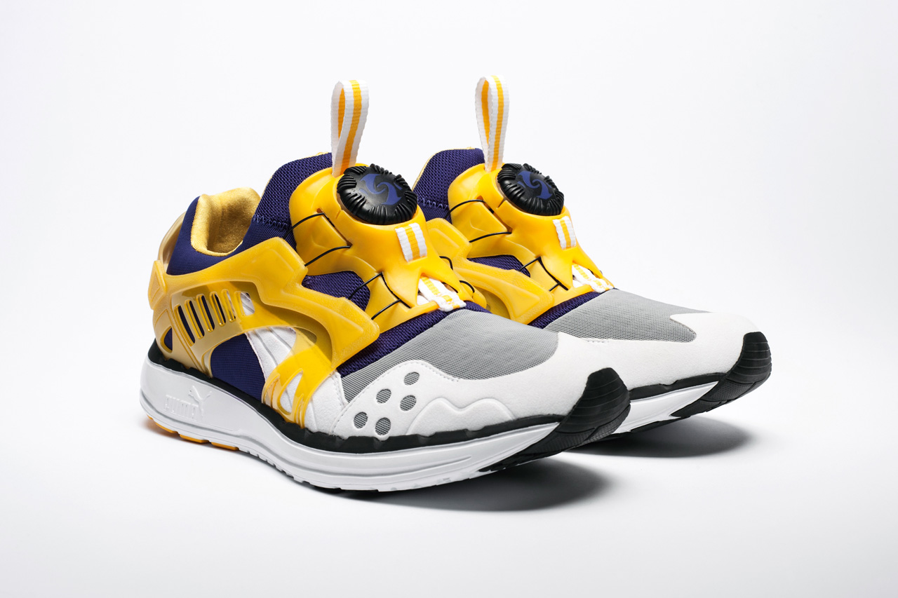"Image of PUMA Disc Blaze LTWT ""Los Angeles Lakers"" UNDFTD Exclusive"
