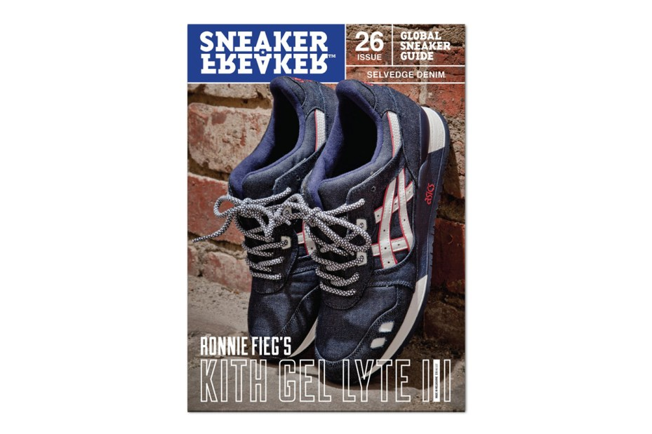 Image of Sneaker Freaker Issue 26 Previews Ronnie Fieg's New Selvedge Denim ASICS Gel Lyte III