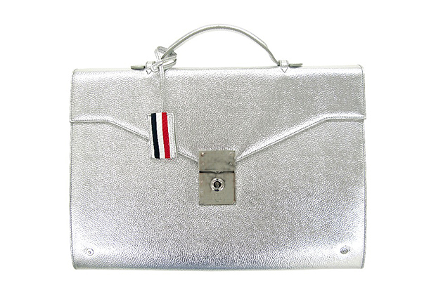 Image of Thom Browne Silver Briefcase for Dover Street Market