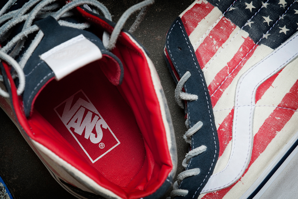 "Image of Vans California 2012 Holiday Sk8-Hi Reissue ""American Flag"""