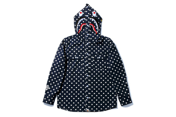 Image of A Bathing Ape Shark Dot Shirt Hoodie