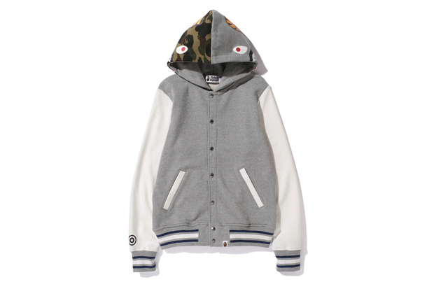 Image of A Bathing Ape SHARK SWEAT VARSITY HOODIE JACKET