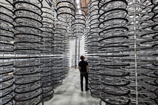 Image of Ai WeiWei&#039;s &quot;Stacked&quot; Installation Features 760 Bikes