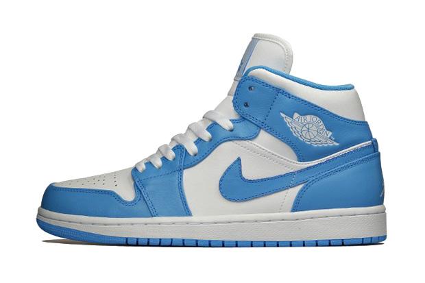 Image of Air Jordan 1 Retro Mid White/University Blue