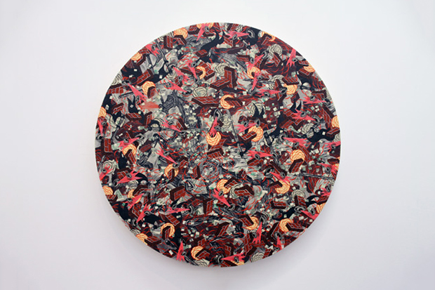 "Image of Andrew Schoultz ""Fall Out"" Exhibition @ Mark Moore Gallery"