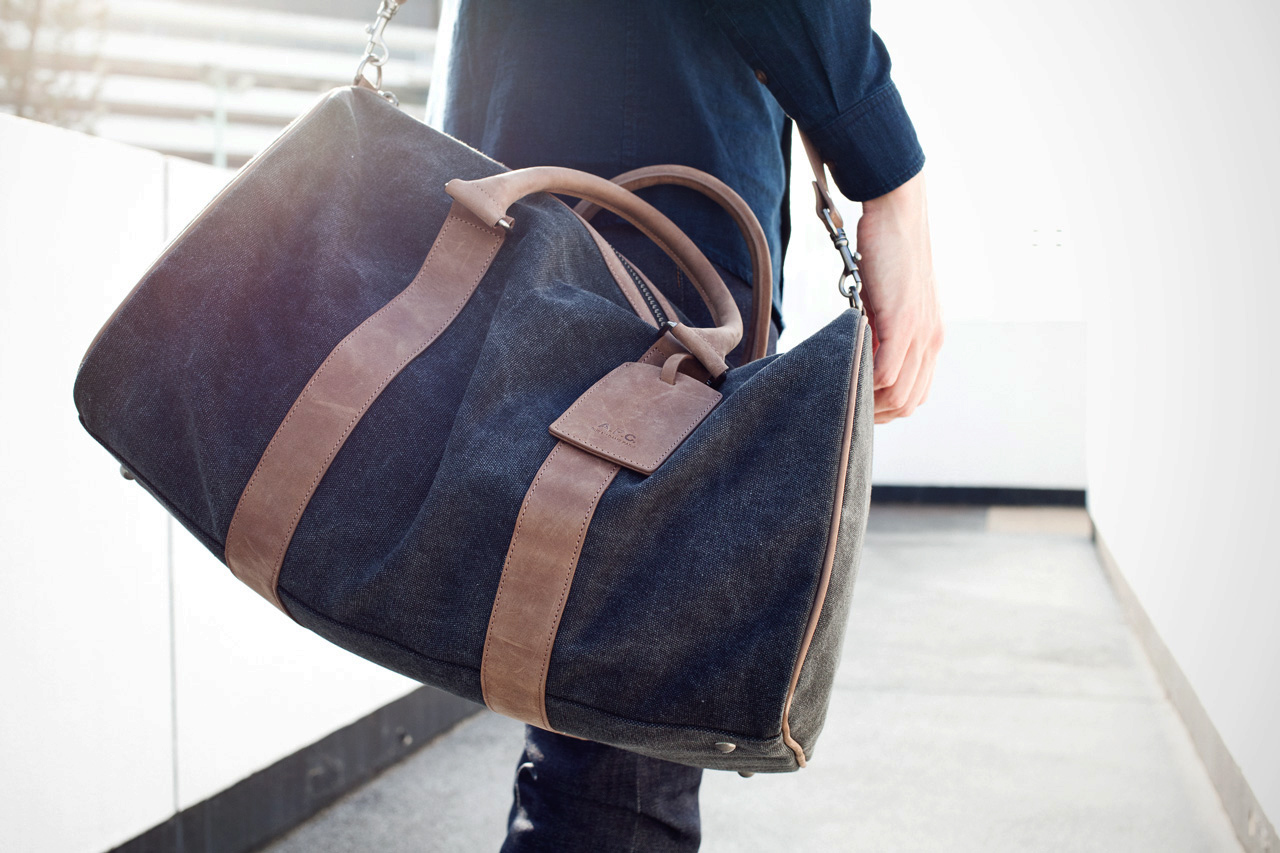 Image of A.P.C. Black Sac De Voyage Bag