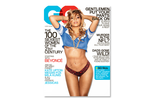 "Image of Beyoncé Covers GQ's 2013 February ""The 100 Sexiest Women of the 21st Century"" Issue"