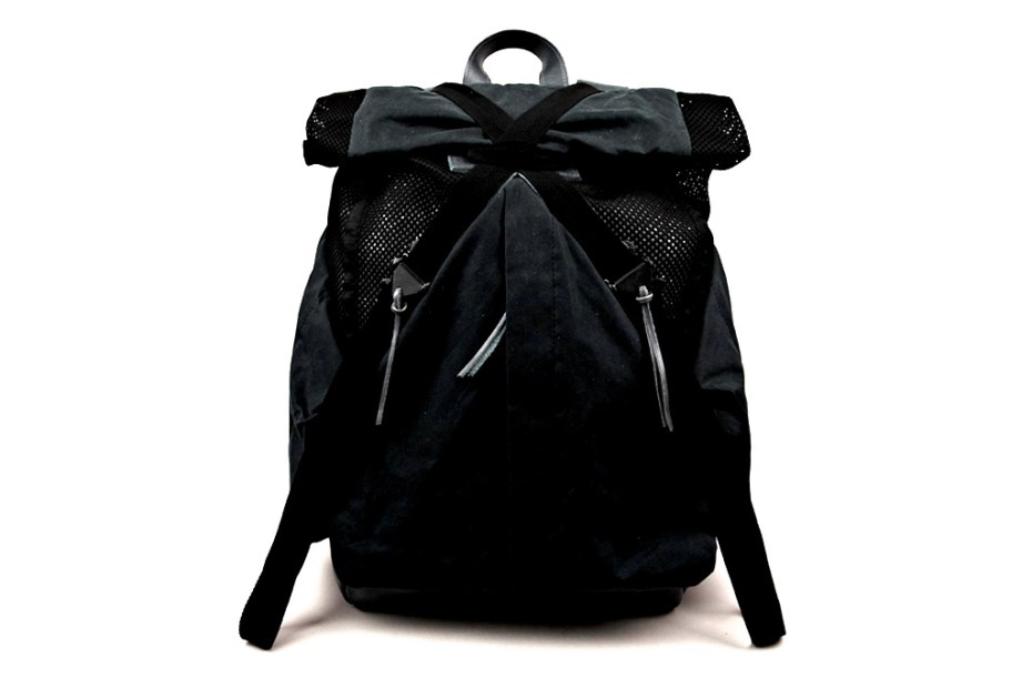Image of Christopher Raeburn Mesh and Waxed Cotton Rucksack