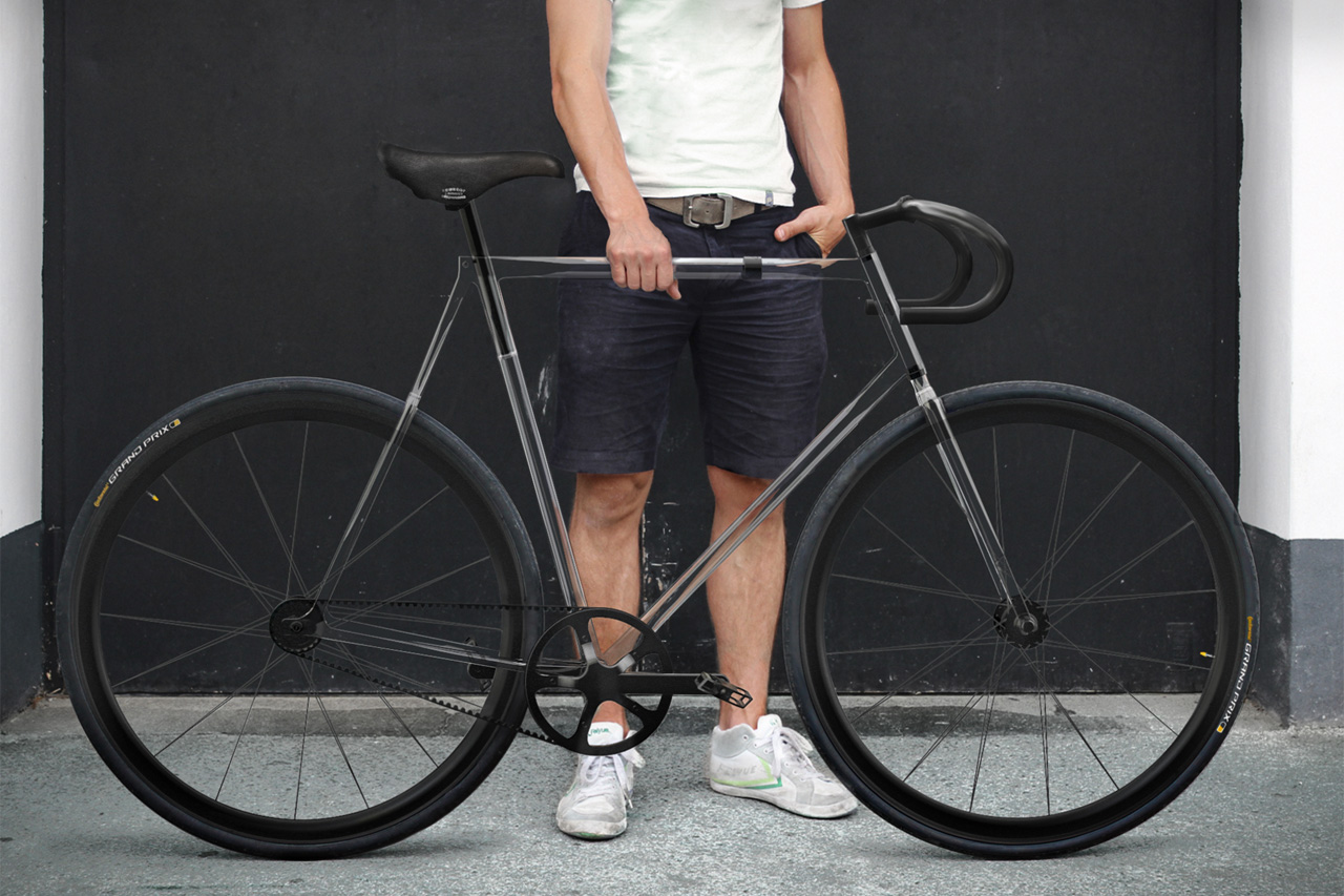 Image of designaffairs STUDIO's Fully Transparent Clarity Bike