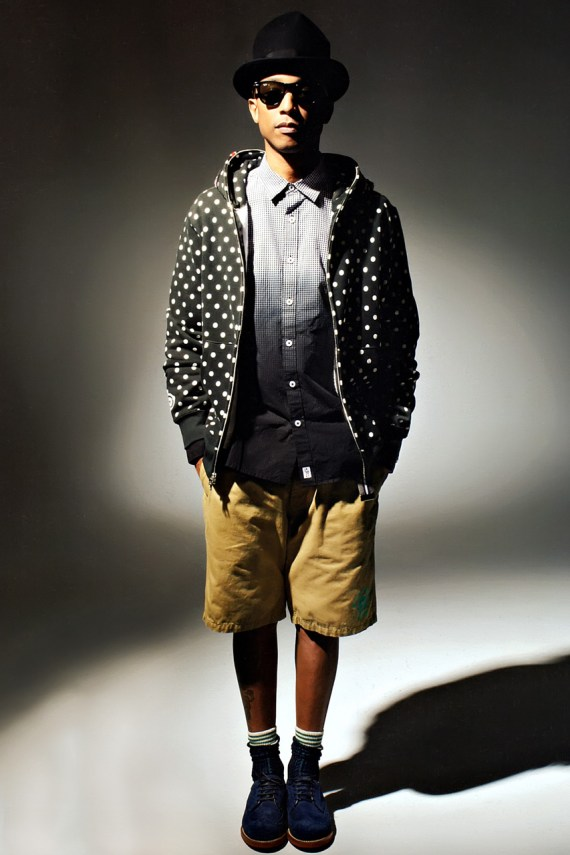 Image of Pharrell Williams Models Billionaire Boys Club and A Bathing Ape