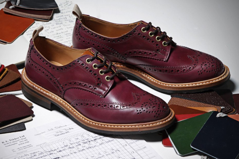Image of End Hunting Co. x Trickers Oxblood Brogues