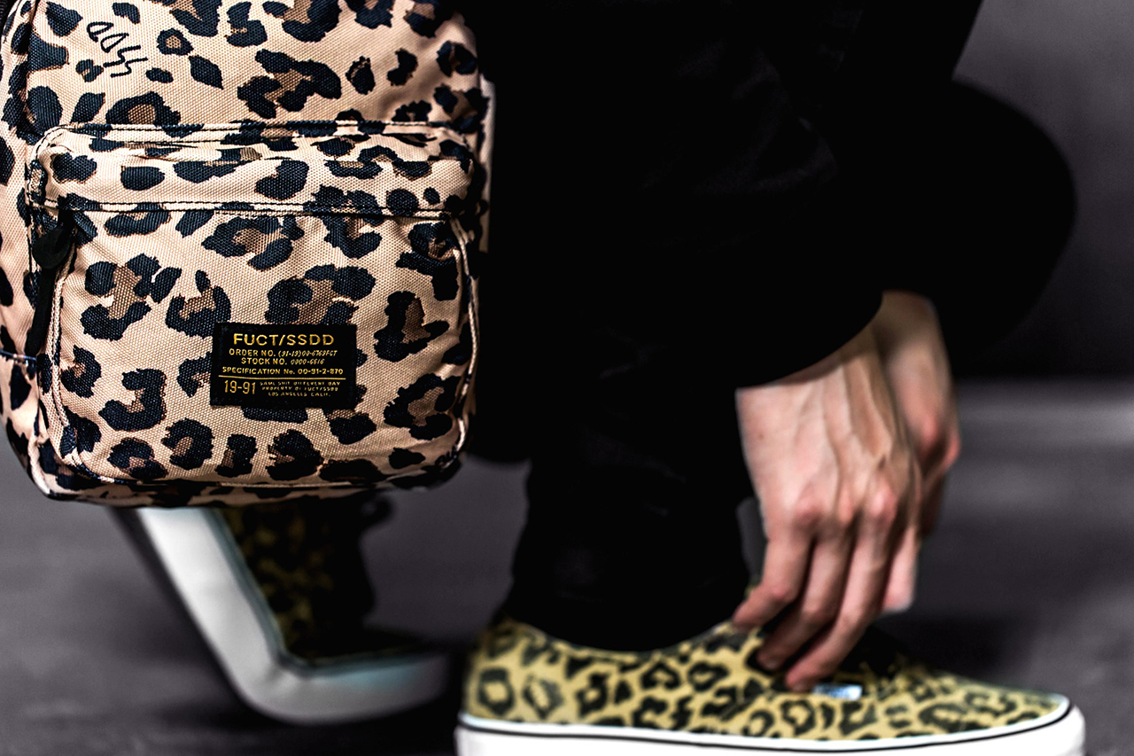 Image of FUCT SSDD Leopard Print Bag Collection