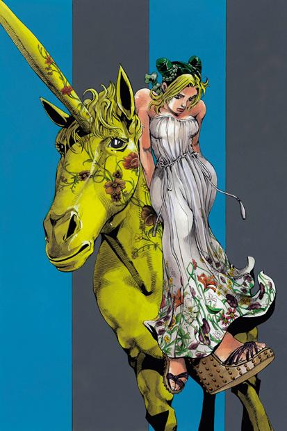 Image of Hirohiko Araki's Manga for Gucci