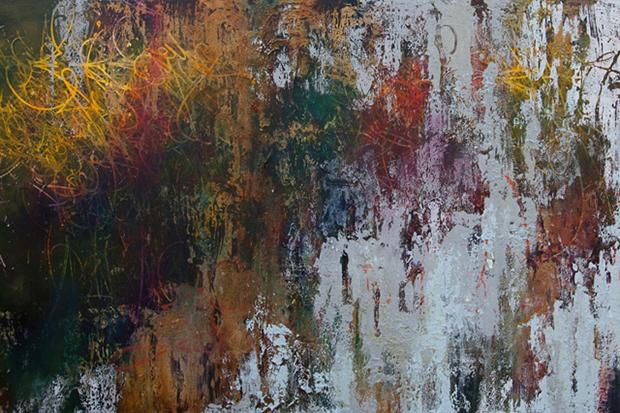 "Image of José Parlá ""Broken Language"" Exhibition @ Haunch of Venison"