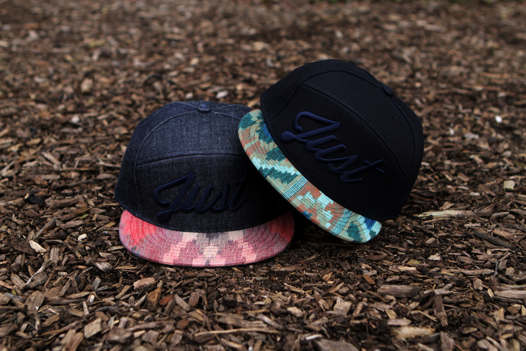 "Image of Kith x Quintin ""Just"" Denim Aztec 6-Panel Caps"