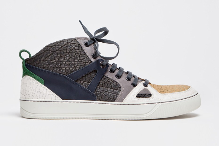 Image of Lanvin 2013 Spring/Summer Mid Top Sneaker Textured Grey