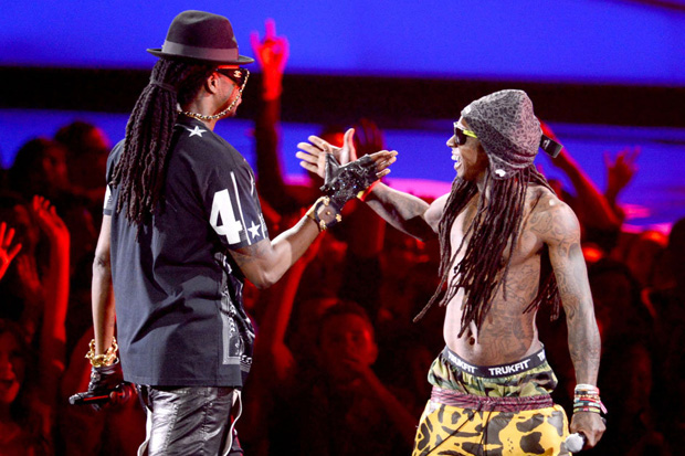 Image of Lil Wayne featuring 2 Chainz  Rich As F*ck