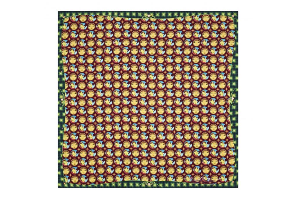 68 x 80 Wall Tapestry Kess InHouse Kess Original Plaid Gold Black Pattern Digital