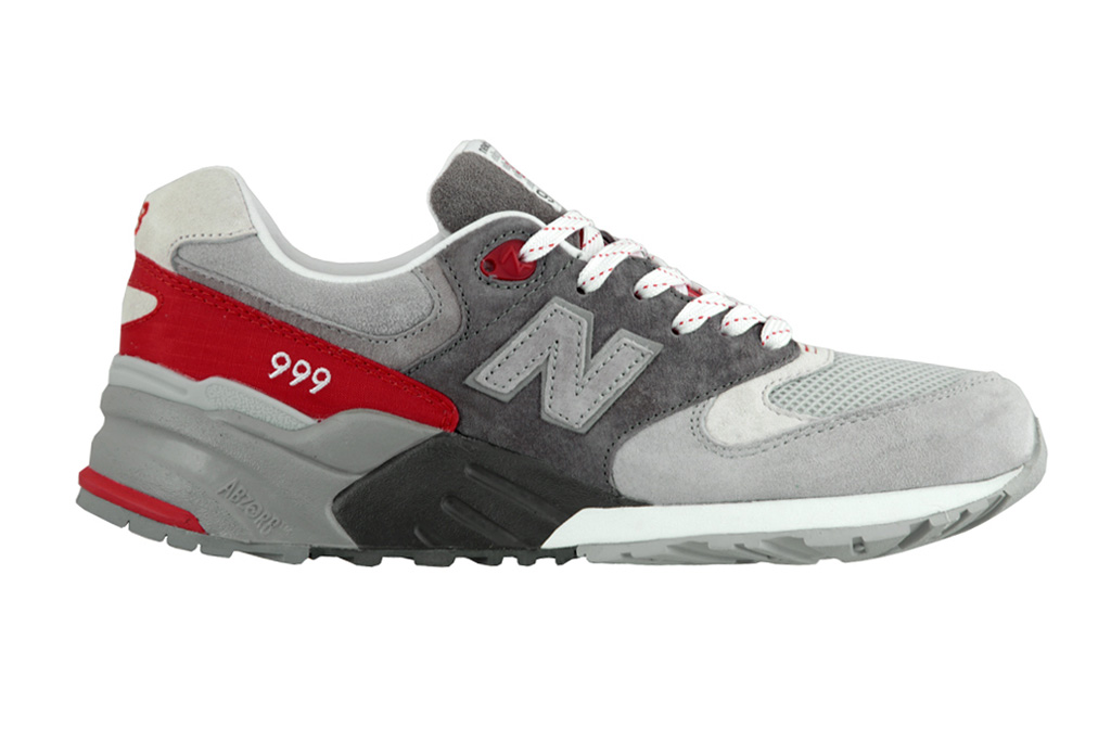 "Image of New Balance ML999 ""Grey/Fire Red"""