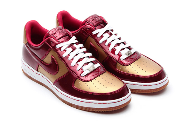 "Image of Nike Air Force 1 Downtown LTH QS ""Flat Gold/Varsity Red"""