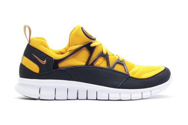 Image of Nike Free Huarache Light Flat Gold/Vivid Sulfur