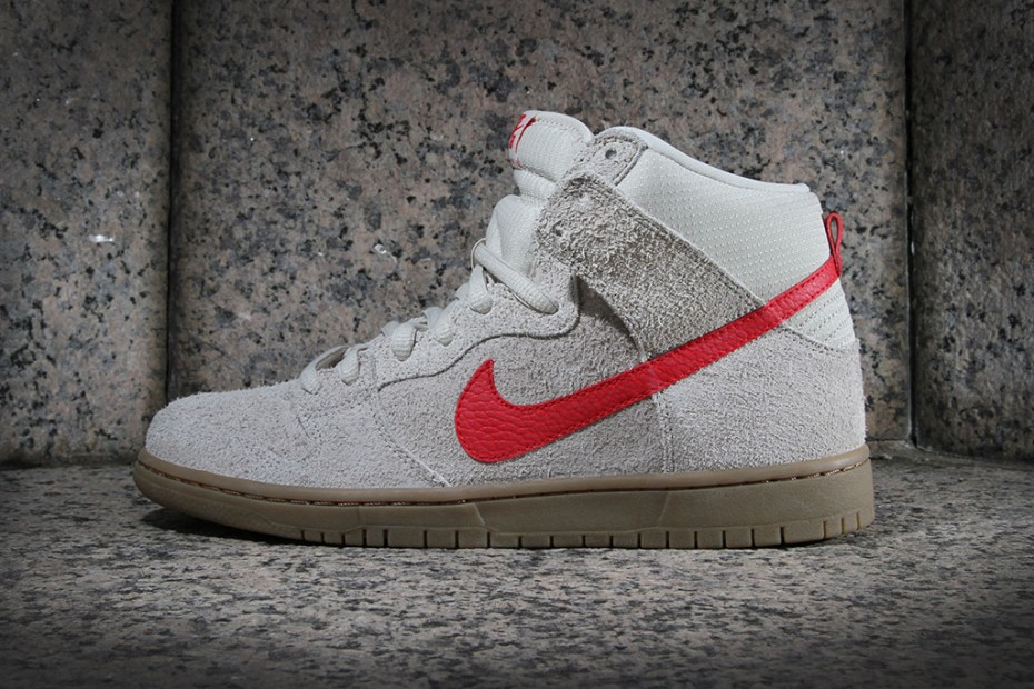 Image of Nike SB Dunk High Pro Birch/Hyper Red