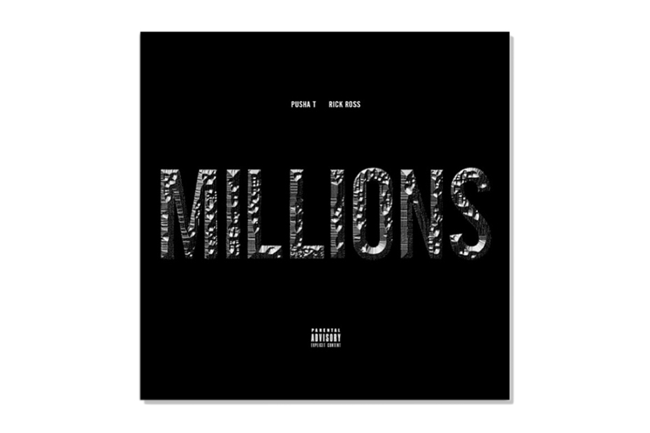 Image of Pusha T featuring Rick Ross - Millions | Artwork