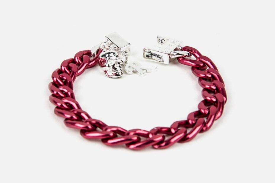 Image of Raf Simons x Atelier 11 Fuchsia Aluminium Bracelet