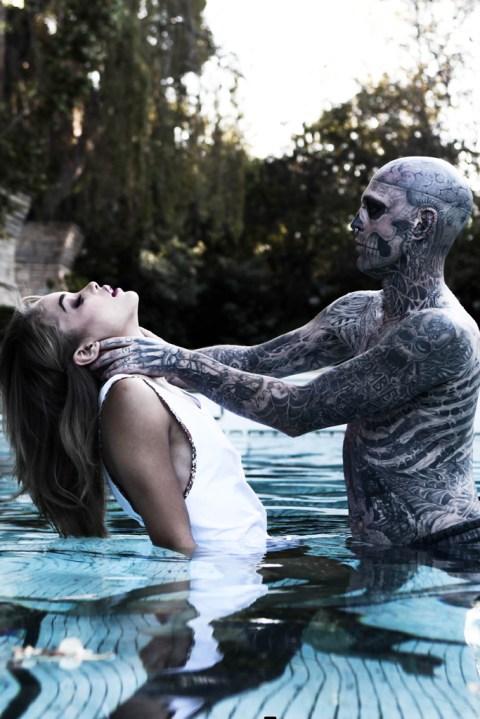 "Image of Rick Genest and Jasmine Sanders Shot by Matt Plunkett ""Beauty & the Beast"""