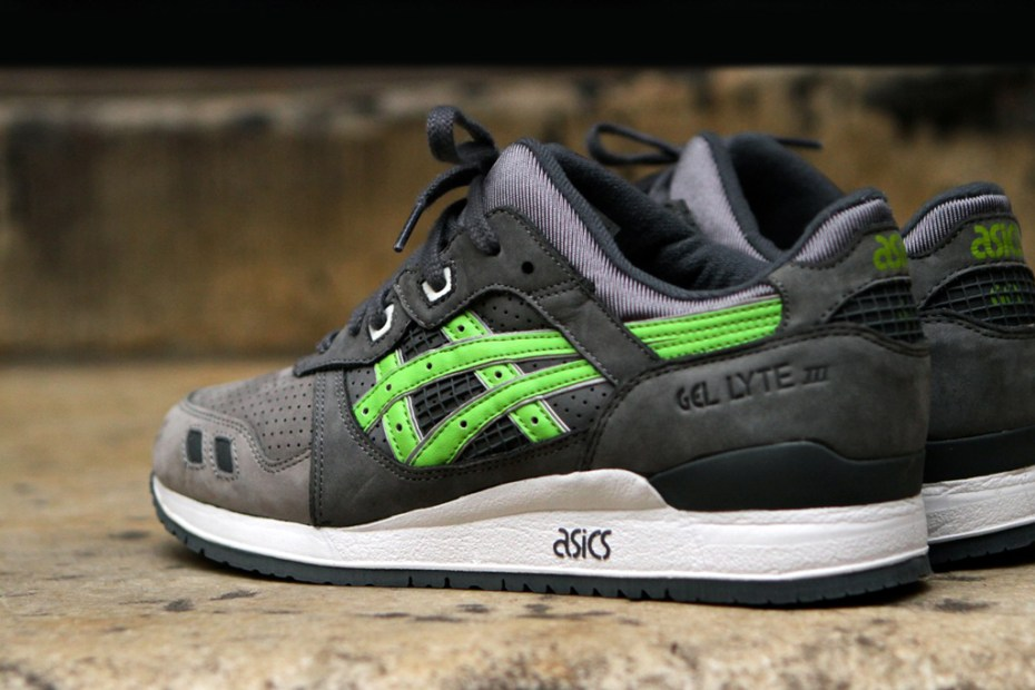 "Image of Ronnie Fieg x ASICS Gel Lyte III ""Super Green"" for Soles4Souls"