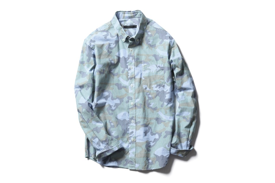 Image of SOPHNET. Camouflage Over Print Button Down Shirts
