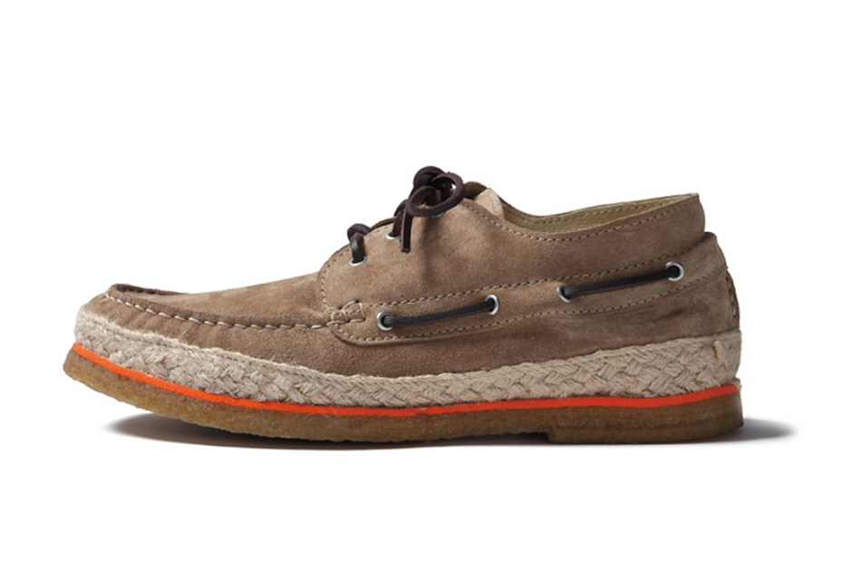 Image of SOPHNET. Leather Deck Moccasin